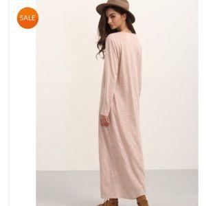 346e7ffa6e SHEIN Dresses | Long Sleeves Comfy Maxi Dress Asymmetrical Neck ...